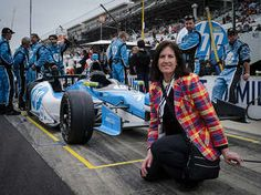 At the Indy 500. Of course, like so many other thousands, I had to have my picture taken in front of one of the cars. (I was there covering the tech behind the performance of the HP car.)