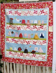 cute clothesline quilt