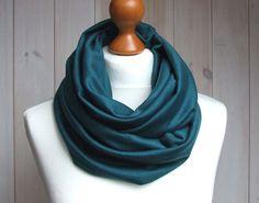 Infinity SCARF Circle Scarf Shawl Loop TEAL loop scarf by Zojanka, $19.90