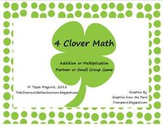 This St. Patrick's Day clover game is perfect for centers or small groups.  Students roll a dice, move their counter, and add or multiply the numbe...