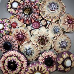 Zipity do da! 'Zipper' canes gone wild. from the summer collection 2013. by Barbara McGuire #polymer