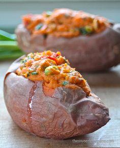 Thai-Style Stuffed Sweet Potatoes | #glutenfree #grainfree #dairyfree #vegetarian