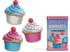 CUPCAKE BANDAGEs    Grandkids would love these