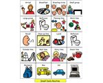Preschool Daily Routine (Small) – Picture symbols to create a classroom visual schedule with the appropriate parts of a preschool routine.