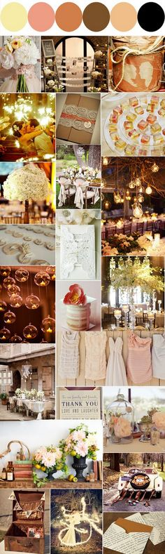 . color palettes, color schemes, color combos, vintage colors, bridesmaid dresses, the dress, rustic weddings, wedding colors, fall weddings