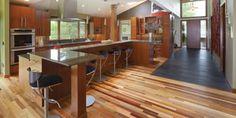 Pallet wood as flooring!