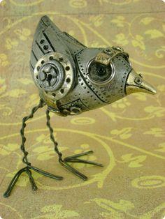 sculptures, strange animals, steampunk stuff, sea creatures, steampunk bird, art, steampunk creatur, birds, steam punk animals