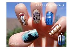 Wish | Tardis and Doctor Who Nails