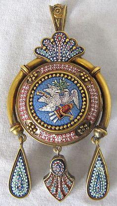 Victorian Micro Mosaic pendant