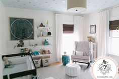 White nursery with pops of color - #projectnursery
