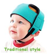 A lightweight helmet for infants and toddlers.