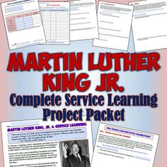 Many of the most amazing experiences my students have had are the result of service learning. Several years ago, I along with many other teachers began to use the legacy of Dr. Martin Luther King, Jr. to inspire my social students students' service learning projects. This download is the result of years of having students reflect on Dr. king's legacy and their own service learning experiences.