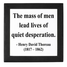 A peek into Thoreau's transcendentalist philosophy and social critique. His life in the woods wasn't just a silly experiment; he wanted to show people how chasing after the trivialities of life -- comfort, material things, etc. -- isn't satisfying. Life is meant for more.