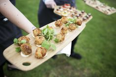 Canapés by the lake at Stillwater, the perfect way to begin any event!