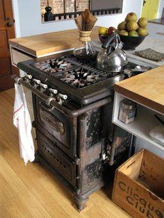 old wood stove; love