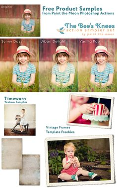 Free Photoshop and Elements actions, templates, frames, textures and more from Paint the Moon. http://paintthemoon.net/blog
