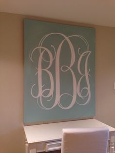 Painted monogram!