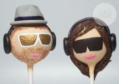 Custom Bride and Groom Cake Pops