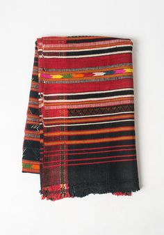 Bright colors on this . Warm to wrap as a shawl. Great as an ethnic accessory in your home. Cashmere Throw or Blanket in Dark Logic by Hokoda on Etsy, $170.00