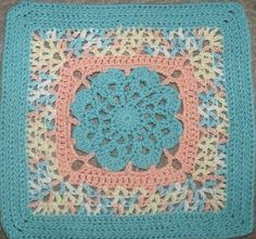 "Ravelry: Project Gallery for More V's Please - 12"" square pattern by Melinda Miller"