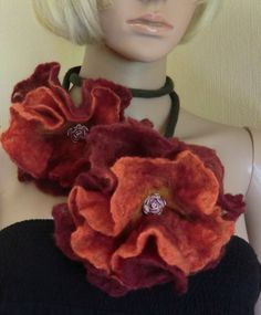 Felted Flower Necklace / Scarf   Wet Felting Kit  by alisonnorman, £12.00