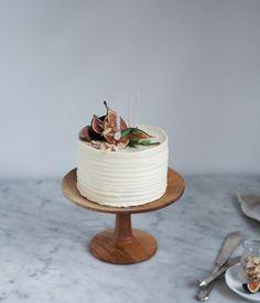 Wood cake plate by Herriott Grace —