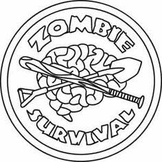 Zombie Survival design (UTZH1289) from UrbanThreads.com