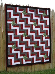 OSU Ohio State Buckeyes Quilt by MidWestThreadsOhio on Etsy, $125.00