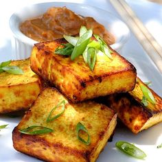 tofu satay w/ peanut sauce