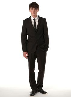 TopMan black slim-fit 2-piece suit