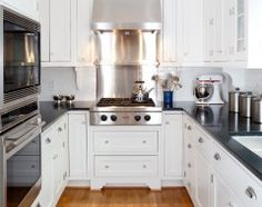 that would fit the bill.  nice use of range top--traditional kitchen by AHMANN LLC