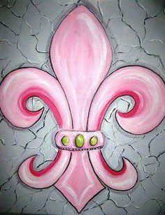 Pink fleur de lis