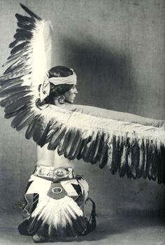 "Toyo Miyatake, photographer. Lester Horton in his 1929 work ""Pueblo  Eagle Dance,"" ca. 1929."