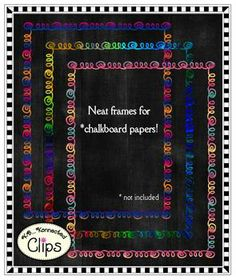 CLIP ART - VARIEGATED DOODLE FRAMES - TeachersPayTeachers.com