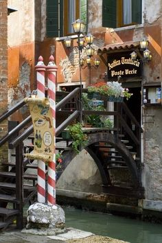 Canal Bridge, Venice, Italy.