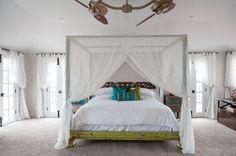 Modern Beach Home Canopy Bed !