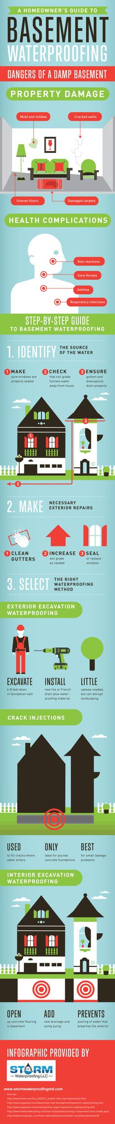 A Homeowner's Guide to Basement Waterproofing Infographic