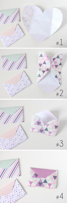 DIY Heart Envelopes Tutorial
