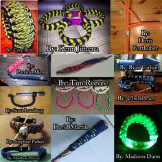 Brand New #MondayMeldey!! Check out the work of some of our talented fanbase members. #paracord #prepper #survival #bracelet #design #creation #diy #project #medley #tying #knotting #weaving