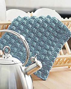 Bobble Bands Dishcloth - Free Crochet Pattern - (ravelry) ♡ •✿•  Teresa Restegui http://www.pinterest.com/teretegui/ •✿•