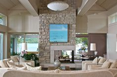 Contemporary Living Room - beach style - living room - other metro