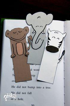 Free printable animal Bookmarks #kids #crafts