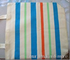 paint a cute totebag with stripes & polka dots