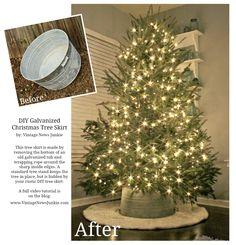 Magazine Worthy DIY Christmas Tree Skirt