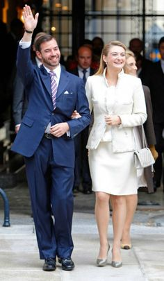 Prince Guillaume of Luxembourg and Princess Stephanie ~ Civil Wedding Service