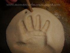 Salt dough keepsake ornament