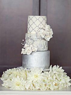 awesom cake, beauti cake, white weddings, silver white wedding, white cakes, amaz cake, silver weddings, cake galleri, white wedding cakes