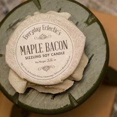 bacon sizzl, mapl bacon, candl idea, candl 18, redditgift marketplac, american made, soy candles, sizzl soy