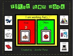 FREE First-Then Board from Jennifer Perez on TeachersNotebook.com -  (6 pages)  - A unique First-Then board that is easy to set-up and even easier to use!  Several highly reinforcing rewards for student to choose from and better yet, all pieces are made to be assemble into one solo unit!
