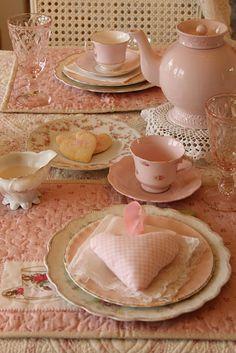 pink shabby tea